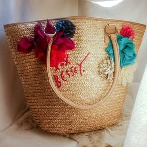 Large Betsey Johnson purse handbag beach bag